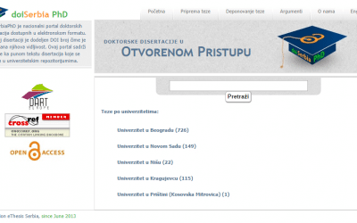 Национални портали докторских дисертација – doiSerbiaPhD и НаРДуС